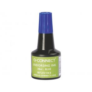 Inchiostro per timbri Q-Connect senza olio 28 ml blu