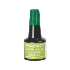 Inchiostro per timbri Q-Connect senza olio 28 ml verde