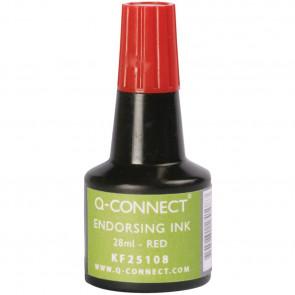 Inchiostro per timbri Q-Connect senza olio 28 ml rosso KF25108