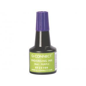Inchiostro per timbri Q-Connect senza olio 28 ml viola
