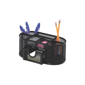 Portaoggetti Q-Connect 23,5x10x11,2 cm nero con cassetto