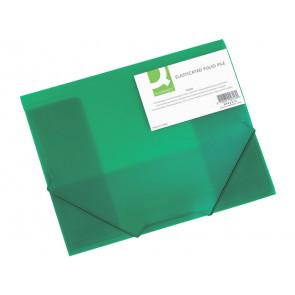 Cartellina a 3 lembi Q-Connect A4 ppl dorso 3 cm verde