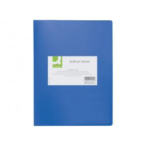 Portalistini opaco Q-Connect A4 20 buste blu