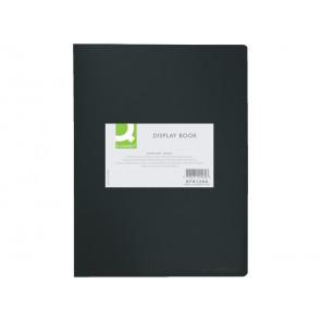 Portalistini opaco Q-Connect A4 nero 40 tasche