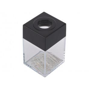 Dispenser portaclip Q-Connect nero/trasparente quadrato