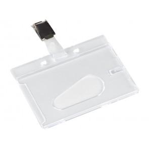 Portabadge Q-Connect 85x54 mm con clip con clip