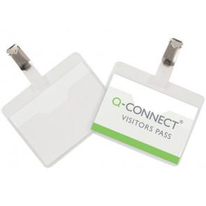 Portabadge Q-Connect plastica 90x60 mm con clip apertura superiore