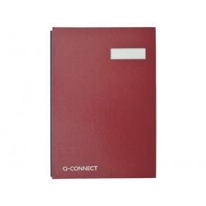 Libro firme Q-Connect 20 pagine 24x35 cm rosso