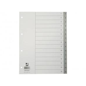 Divisore numerico Q-Connect grigio 22,5x29,7 cm ppl 1-15 KF01827