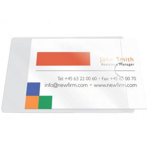 Tasche adesive portabiglietti Q-Connect ppl 60x95 mm trasparente apertura lato