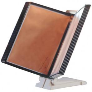 Legg?o da tavolo o da parete Q-Connect Quickfind 10 pannelli A4 grigio KF06002
