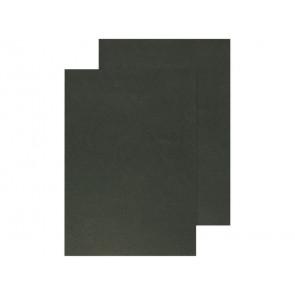 Copertina per rilegatura Q-Connect A4 250 g/m? nero goffrato conf. 100 pezzi - KF00501