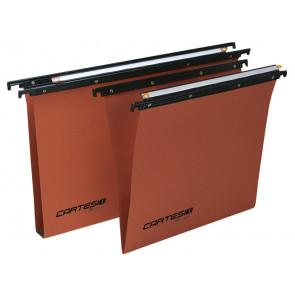 Cartelle sospese orizzontali per cassetti CARTESIO 38 cm fondo V arancio