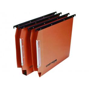 Cartelle sospese laterali per armadi CARTESIO 33 cm fondo U 3 cm arancio
