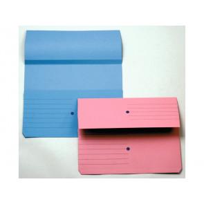 Cartelline con tasca 4Mat A4 in carta woodstock 225 g/mrso 3 cm blu