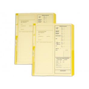 Cartelline a 2 lembi 4Pro A4 in carta di cellulosa 225 g/mrso 2 cm giallo