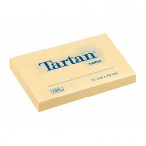 Foglietti riposizionabili Tartan? 100 ff 63 g/m? giallo 51x76mm conf. da 12 blocchetti - 656 Yellow