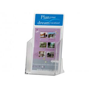 Portadepliant da tavolo o parete Q-Connect in polistirolo trasparente A4