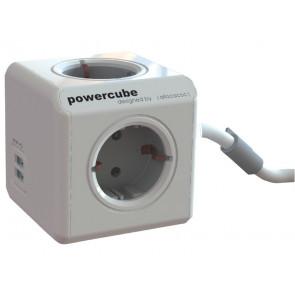 Multipresa da tavolo Media Range Powercube 4x220 V e 2 USB argento P50455