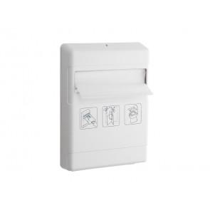 Distributore veline copri WC QTS in ABS con capacit00 veline bianco