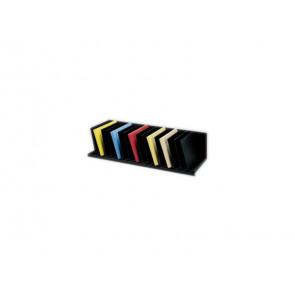 Reggilibri Paperflow con separatori fissi inclinati nero