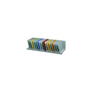 Reggilibri Paperflow separatori fissi inclinati grigio