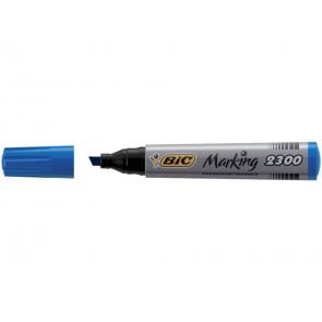 Marcatore permanente BIC Marking 2300 punta scalpello 3,7-5,5 mm blu 8209253