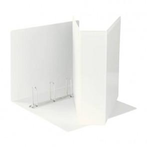 Raccoglitore personalizzabile Esselte Display a 4 anelli a Q 65mm PP eco-comp. bianco formato Maxi- 394758000