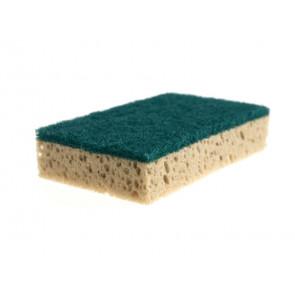 Spugna abrasiva Vileda Professional in resina verde/tabacco