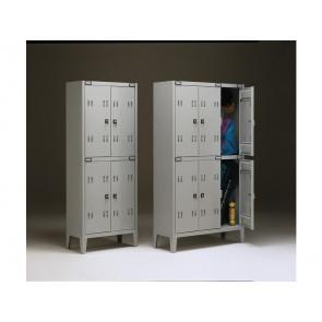 Spogliatoio sovrapposto Tecnical 2 a 4 posti acciaio 7/10 monoblocco