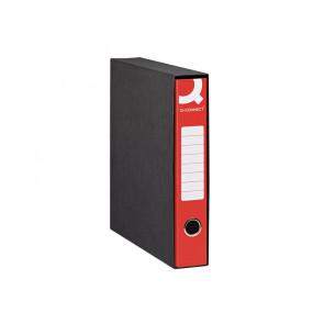 Registratore protocollo Q-connect con custodia dorso 5 cm rosso