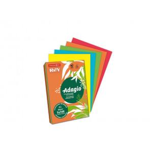 Carta colorata A4 INTERNATIONAL PAPER Rey Adagio colori forti risma 500 fogli - ADAGI080X909