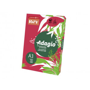 Carta colorata A3 INTERNATIONAL PAPER Rey Adagio rosso intenso 22