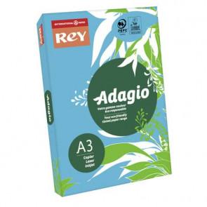 Carta colorata A3 International Paper Rey Adagio 80 g/m² blu intenso 51 - Risma da 500 fogli - ADAGI80X470