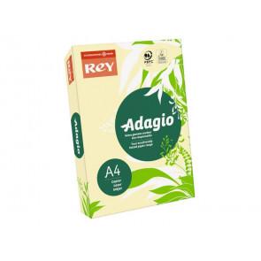 Carta colorata A4 INTERNATIONAL PAPER Rey Adagio giallo canarino 03 risma 250 fogli - ADAGI160X473