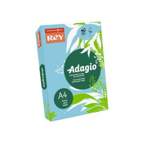 Carta colorata A4 INTERNATIONAL PAPER Rey Adagio blu tenue 48 risma 250 fogli - ADAGI160X471