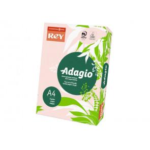 Carta colorata A4 INTERNATIONAL PAPER Rey Adagio rosa 07 risma 250 fogli - ADAGI160X463
