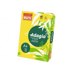 Carta colorata A4 INTERNATIONAL PAPER Rey Adagio giallo intenso 66 risma 250 fogli - ADAGI160X479