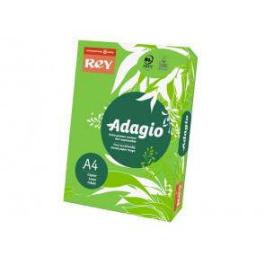 Carta colorata A4 INTERNATIONAL PAPER Rey Adagio verde intenso 52 risma 250 fogli - ADAGI160X457