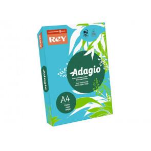 Carta colorata A4 INTERNATIONAL PAPER Rey Adagio blu intenso 51 risma 500 fogli - ADAGI080X622