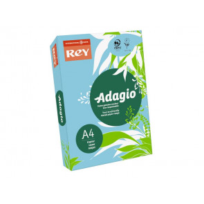 Carta colorata A4 INTERNATIONAL PAPER Rey Adagio blu tenue 48 risma 500 fogli - ADAGI080X623