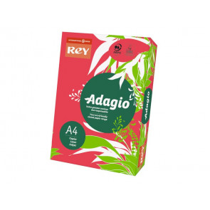 Carta colorata A4 INTERNATIONAL PAPER Rey Adagio 80 g/m? rosso intenso risma da 500 fogli - ADAGI080X645