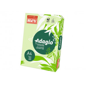 Carta colorata A4 INTERNATIONAL PAPER Rey Adagio 80 g/m? verde risma da 500 fogli - ADAGI080X651