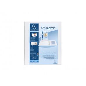 Raccoglitore personalizzabile Exacompta A4 maxi Kreacover anelli a D bianco
