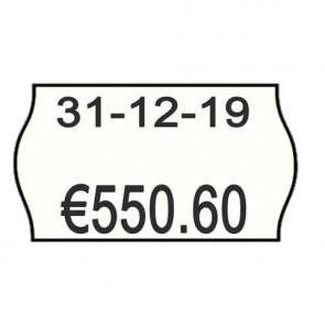 Rotolo da 1000 etichette per prezzatrice Printex sagomate 26x16 mm bianco permanente conf. 10 rotoli - 2616sbp7