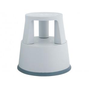 Sgabello tondo Q-Connect in plastica h 43 cm grigio chiaro