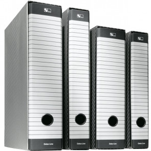 Registratori Delsoline Esselte Commerciale f.to utile 23x30 cm 8 cm bianco/grigio 390713060