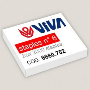 Punti metallici per cucitrici Viva 6/4 passo 6 mm argento