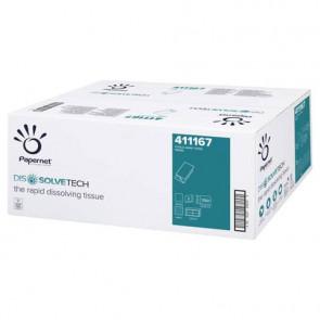Asciugamani intercalati Papernet Dissolve Tech piegati a V Conf. 15 pezzi - 411167