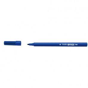 Marcatori punta in fibra TRATTO Office punta conica 0,7 mm blu Conf. 12 pezzi - 730501
